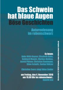 Plakat Lesung Schwelm