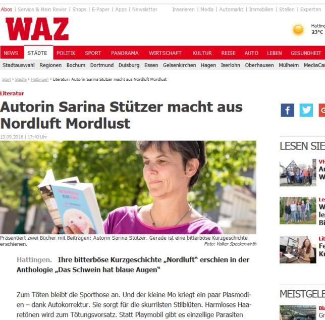 Ein Anriss des Artikels der WAZ Hattingen